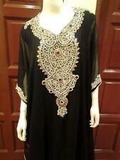 ELEGANT Moroccan Kaftan Long Maxi Dress Abaya Jilbab Islamic Kheleeji jalabiya26