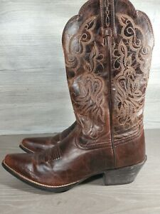 ARIAT 10010968 HERITAGE WESTERN J-TOE WOMENS SIZE 7 B  WESTERN BOOT(S5