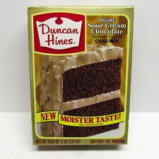 Vintage 80s Duncan Hines Deluxe Sour Cream Chocolate Cake Mix FULL Prop Sealed