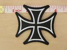 German Iron Cross Military Medal Motorcycles WW2 biker Iron on Patch Applique