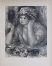 Pierre Auguste Renoir Engraving Limited First Edition La Femme Au Miroir 1919