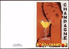 postkarte publicitaire.Champagne Moet und Chandon.illustre von Chem. art-deco