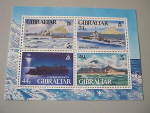 GIBRALTAR  1995 WARSHIPS   MIN. SHEET  SG MS748   MNH
