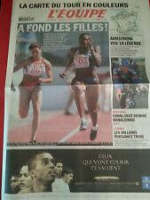 journal  l'équipe 05/07/2002 CYCLISME TOUR DE FRANCE 2002 ARMSTRONG CARTE HURTIS