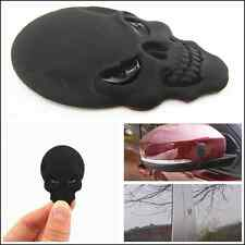 Car suv C-Pillar Fenders Tank Cover Metal Black Skull Head Emblem Sticker Badge
