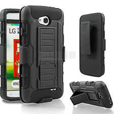 Armor Heavy duty Rugged Hybrid Hard Case Cover For LG Optimus L90 D415