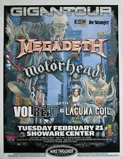 Megadeth / Motorhead Kent 2012 concert poster / metallica slayer exodus anthrax