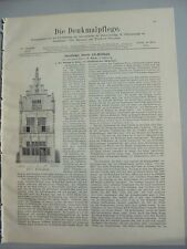 1904 4 Edam Kirchbrunnen  Reutlingen Dekanatshaus Blaubeuren