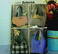 Butterick 3282 Sewing Pattern 4 HANDBAGS TOTES