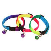 2x Katzen Hund Welpen weichen Einstellbare Hundehalsband Sicherheits mit! M5K4
