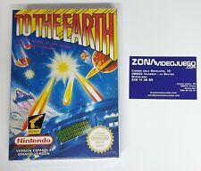 To the earth, Nintendo Nes, Version Española, Pal, Nuevo a estrenar.