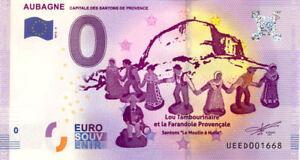 13 AUBAGNE Capitale des Santons de Provence, 2016, Billet Euro Souvenir