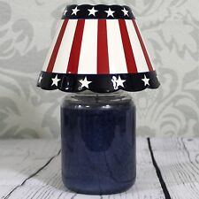 Yankee Candle Patriotic Jar Shade Americana Glazed Ceramic Red White Blue Large