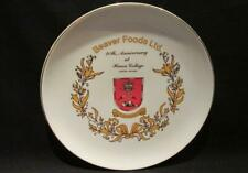Beaver Foods Ltd 20th Anniversary Huron College London Ontario Plate 22K warrant