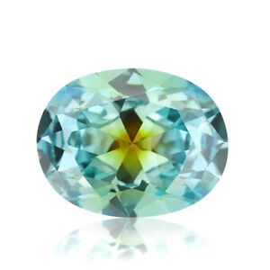 Oval shape special color loose cubic zirconia stone one-time forming multi color