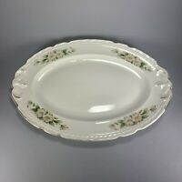Vintage Dogwood Embassy Vitrified China USA Scalloped Platter