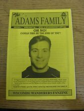 Apr-1995 Wycombe Wanderers: Fanzine - The Adams Family Issue 17. Thanks for view
