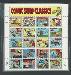 U S Full Sheet Of Mint Stamps Scott #3000 Comic Strips Classics See Info
