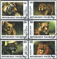 Togo 2991-2996 (compl.edición) usado 2000 depredadores