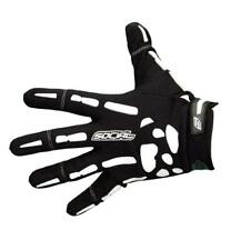 Social Paintball Grit Deluxe Gloves - Bones - Black White - X-Small Xs New
