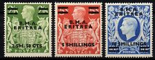 Eritrea BMA 1948 Top Three Values SG E10 E11 E12 MM No Reserve.