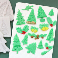 CHRISTMAS TREE Silicone Fondant Cake Topper Mold Chocolate Baking Candy Mould 3D