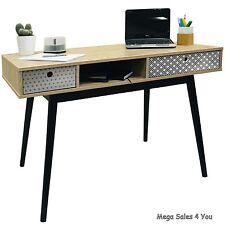 Vintage Wooden Writing Computer Desk Retro Storage Drawers Workstation Table UK
