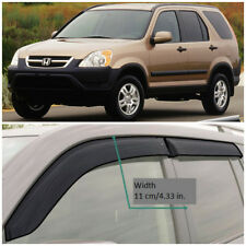 Wide Window Visors Side Sun Guard Vent Deflectors For Honda CRV CR-V 2002-2006
