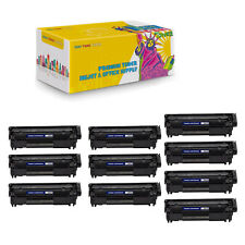10 Compo Compatible Q2612X High Yield Black Toner Cartridge For HP LaserJet 1010