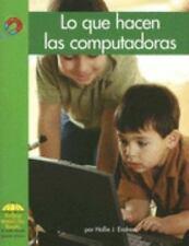 Lo que hacen las computadoras (Yellow Umbrella Spanish Early Level) (Spanish Edi