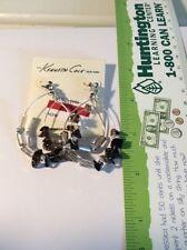 stone earrings, Nwt $32 #39F Kenneth Cole silver tone hoop