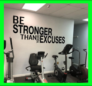 Be Stronger Gym Workout Motivation Words Wall Decal Fitness Sport Sticker Decor