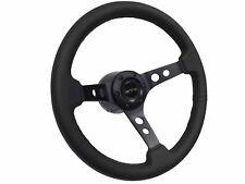 1969 - 1973 Pontiac GTO 6 Bolt Leather Steering Wheel Black Kit