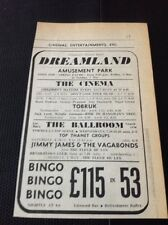 68-3 ephemera 1967 Margate Dreamland Jimmy James & The Vagabonds Tobruk