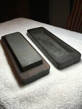 Very Old Sharpening Oilstone Tool With Hand Carved Wood Box Primitive. Special!