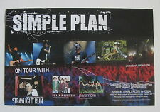 Simple Plan *Paramore* Plain White T's Straylight Run Promo Tour Poster Rare Oop