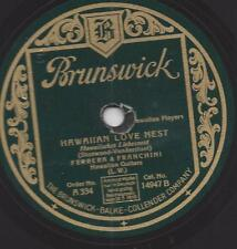 Hawaiian Guitar Ferrera + Franchini 1928 Hawaiian Love nido