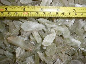 Kunzite Spodumene Crystal Stone all Green 1 to 10 gram small pieces 50 gram Lot