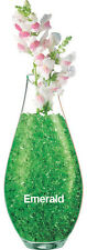 Green water-storing gel crystals for candles vases