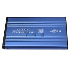 New USB 2.0 External SATA 2.5 HDD Hard Drive Enclosure Case Blue