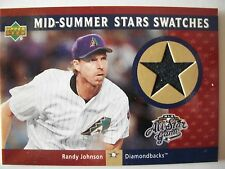 2002 UPPER DECK  MID SUMMER STARS SWATCHES RANDY JOHNSON  JERSEY    BOX 48