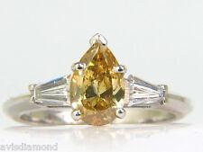 █$16000 GIA 1.62CT NATURAL FANCY YELLOW DIAMOND RING█ VIVID & CLEAN