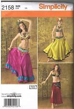 Sexy Harem Gitano Danza Vientre Traje Danza Patrón de Costura más 14 16 18 20 22