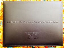 2013 BENTLEY GT SPEED CONVERTIBLE OWNERS MANUAL W/ NAVIGATION SECTION RARE NEW