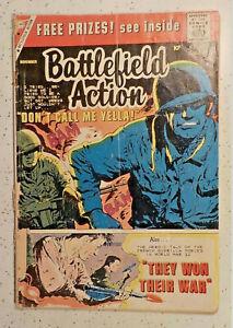 Battlefield Action #27 ! CHARLTON 1959 ! WAR ! 10c COVER ! hayfamzone