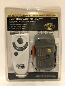 NEW Hampton Bay Hand Held Wireless Remote 191-691 Transmitter T2 and Receiver