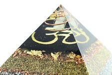 "Orgonit ® Orgon Cheops Pyramide ""Der Urklang des Unendlichen"" 14x14cm OM-Symbol"