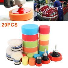 29x 3'' Polishing Waxing Sponge Buffer Pad M14 Drill Kit For Car Auto Polisher