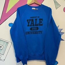 Vintage Blue Yale University Sweatshirt On A Lee Tag Size XL Retro