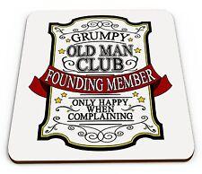Grumpy Old Man Club Funny Novelty Glossy Mug Coaster